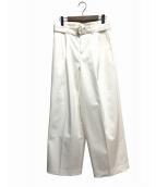 自由区(ジユウク)の古着「2タックワイドパンツ」|ホワイト