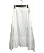 MADISON BLUE(マディソンブルー)の古着「コットンロングスカート」|ホワイト