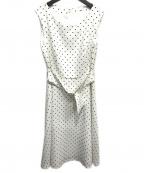 LAISSE PASSE(レッセパッセ)の古着「ドットスカラワンピース」|ホワイト