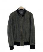 TORNADO MART(トルネードマート)の古着「スエードタッチブルゾン」|ブラック