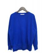 ENFOLD(エンフォルド)の古着「クルーネックニット」|ブルー