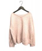 Plage(プラージュ)の古着「Fur Vネックプルオーバー」 ピンク