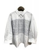 mina perhonen(ミナペルホネン)の古着「刺繍シャツ」 ホワイト