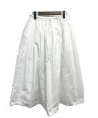 mina perhonen(ミナペルホネン)の古着「papier スカート」 ホワイト