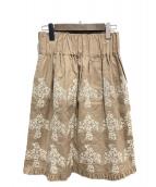 mina perhonen(ミナペルホネン)の古着「odyssey スカート」 ベージュ