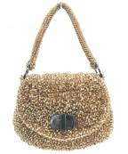 ANTEPRIMA(アンテプリマ)の古着「ターンロックワイヤーハンドバッグ」|ゴールド