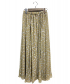 IENA(イエナ)の古着「楊柳フラワースカート」|ベージュ