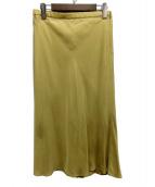 SLOBE IENA(スローブイエナ)の古着「キュプラツイルマーメイドミモレスカート」|イエロー