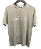 STONE ISLAND(ストーンアイランド)の古着「ロゴTシャツ」|ベージュ