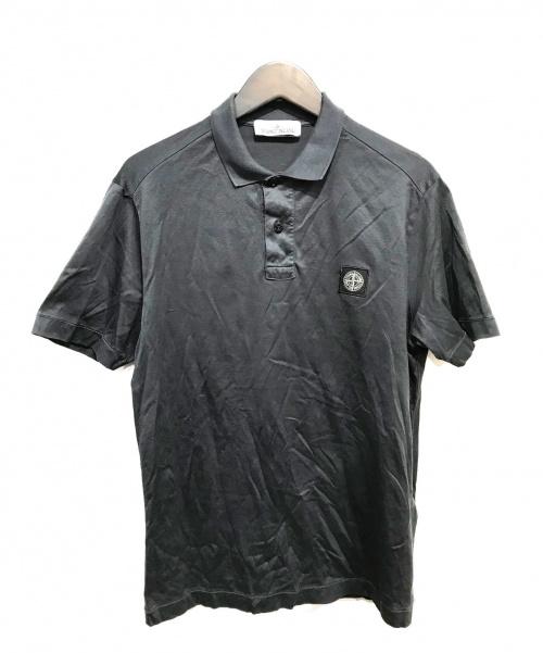 STONE ISLAND(ストーンアイランド)STONE ISLAND (ストーンアイランド) ポロシャツ グレー サイズ:Mの古着・服飾アイテム