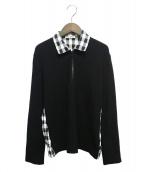 ISSEY MIYAKE(イッセイミヤケ)の古着「切替ハーフジップシャツ」|ブラック