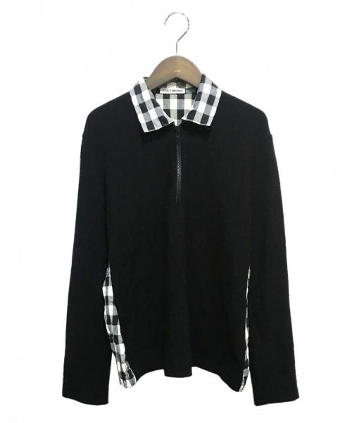ISSEY MIYAKE(イッセイミヤケ)ISSEY MIYAKE (イッセイミヤケ) 切替ハーフジップシャツ ブラック サイズ:Mの古着・服飾アイテム
