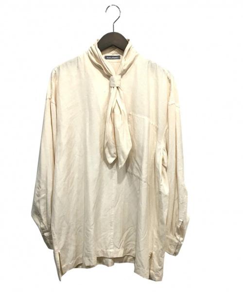 ISSEY MIYAKE MEN(イッセイミヤケメン)ISSEY MIYAKE MEN (イッセイミヤケメン) ボウタイプルオーバーシャツ ベージュ サイズ:Mの古着・服飾アイテム