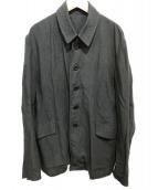 Ys(ワイズ)の古着「リネンレーヨンジャケット」|ブラック