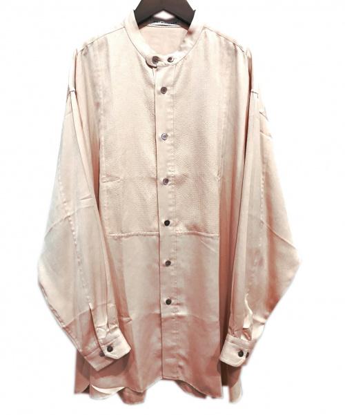 ISSEY MIYAKE MEN(イッセイミヤケメン)ISSEY MIYAKE MEN (イッセイミヤケメン) バンドカラーBIGシャツ ピンク サイズ:Lの古着・服飾アイテム