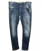 Denham(デンハム)の古着「ユーズド加工スリムフィットデニム」 インディゴ