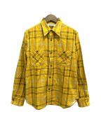 CUSHMAN(クッシュマン)の古着「プリントネルシャツ」|イエロー