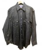 BLUE BLUE()の古着「コンチョボタンデニムシャツ」|インディゴ
