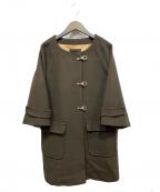 Droite lautreamont(ドロワットロートレアモン)の古着「ノーカラーコート」|ブラウン