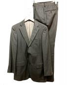 Custom Tailor BEAMS(カスタムテーラービームス)の古着「段返り3Bストライプスーツ」|ブラック