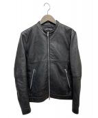 417 by EDIFICE(フォーワンセブンバイエディフィス)の古着「ライダースジャケット」|ブラック