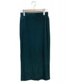 Deuxieme Classe(ドゥーズィエムクラス)の古着「ベロアタイトスカート」 グリーン