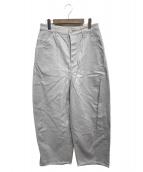 mina perhonen(ミナペルホネン)の古着「tie newワイドパンツ」|グレー