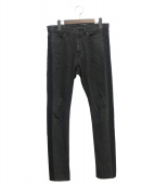LAD MUSICIAN(ラッドミュージシャン)の古着「サイドラインスキニーデニムパンツ」|ブラック