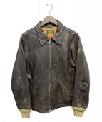 REPLAY(リプレイ)の古着「レザージャケット」|ブラウン
