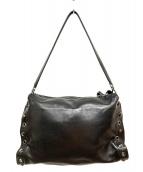 sergio rossi(セルジオロッシ)の古着「サイドスタッズレザーショルダーバッグ」|ブラック