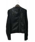 LE CIEL BLEU(ルシェルブルー)の古着「ラムレザージャケット」 ブラック