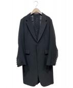 noir kei ninomiya(ノワール ケイ ニノミヤ)の古着「カットワークチェスターコート」|ブラック