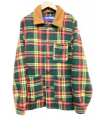 CDG JUNYA WATANABE MAN(コムデギャルソンジュンヤワタナベマン)の古着「ウールチェックジャケット」|グリーン×レッド