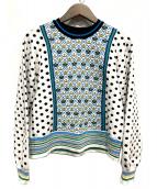 MUVEIL(ミュベール)の古着「crown×polka dotプルオーバー」|ホワイト