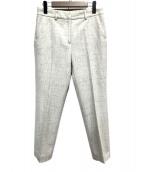 Demi-Luxe BEAMS(デミルクスビームス)の古着「ネップツイード9分丈パンツ」 アイボリー