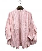 SUZUKI TAKAYUKI(スズキタカユキ)の古着「cape blouse」 ピンク