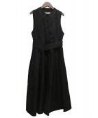 DOUBLE MAISON(ドゥーブルメゾン)の古着「別注プペジャンパースカート」 ブラック