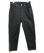 UNITED TOKYO(ユナイテッドトウキョウ)の古着「サイドジップデニムパンツ」|ブラック