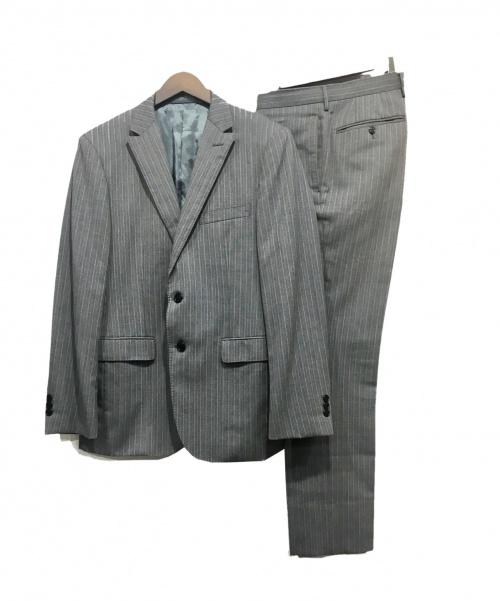 A DAY IN THE LIFE(アデイインザライフ)A DAY IN THE LIFE (アデイインザライフ) 2Bスーツ グレー サイズ:48 ストライプの古着・服飾アイテム