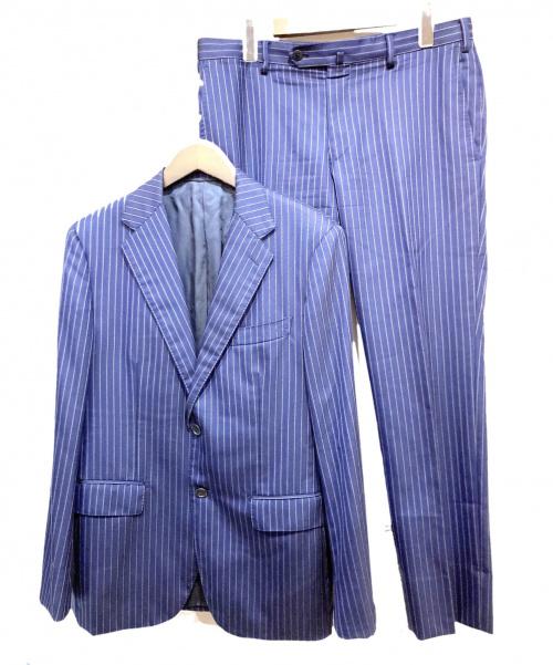 UNITED ARROWS(ユナイテッドアローズ)UNITED ARROWS (ユナイテッドアローズ) 2Bスーツ ネイビー サイズ:48 ストライプの古着・服飾アイテム