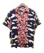 ()の古着「レーヨンアロハシャツ」|ネイビー