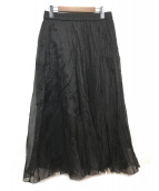 JOURNAL STANDARD(ジャーナルスタンダード)の古着「ワッシャープリーツスカート」|ブラック