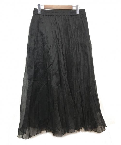 JOURNAL STANDARD(ジャーナルスタンダード)JOURNAL STANDARD (ジャーナルスタンダード) ワッシャープリーツスカート ブラック サイズ:40の古着・服飾アイテム