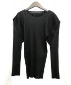 PLEATS PLEASE(プリーツプリーズ)の古着「プリーツブラウス」|ブラック
