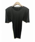 ()の古着「プリーツブラウス」|ブラック