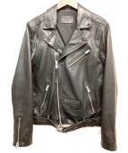 ALL SAINTS(オールセインツ)の古着「ダブルライダースレザージャケット」 ブラック