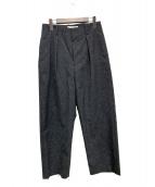 ETHOSENS(エトセンス)の古着「18AWタックワイドパンツ」|グレー