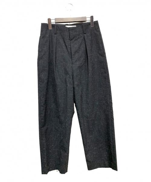 ETHOSENS(エトセンス)ETHOSENS (エトセンス) 18AWタックワイドパンツ グレー サイズ:1の古着・服飾アイテム