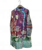 Desigual(デシグアル)の古着「パッチワークコート」|パープル