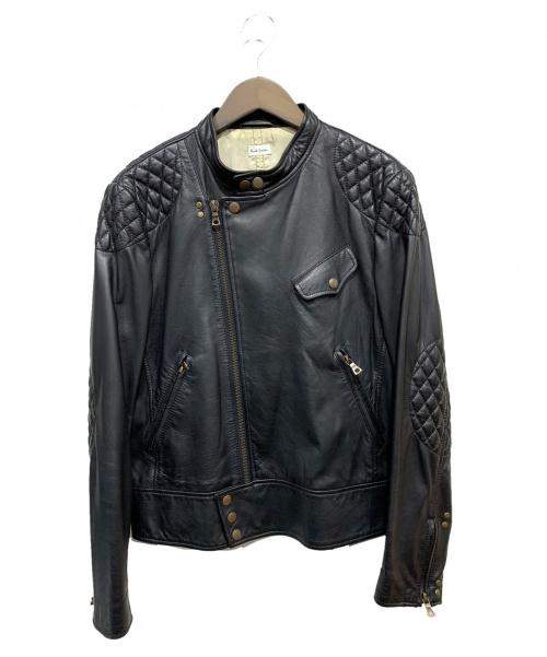 Paul Smith(ポールスミス)Paul Smith (ポールスミス) ラムレザーライダースジャケット ブラック サイズ:Lの古着・服飾アイテム